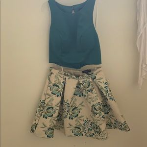 A floral two piece dress